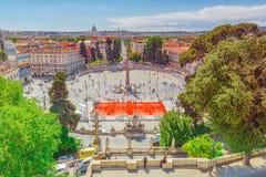 罗马,意大利- 5月08,2017 :一最美丽的罗马squa 免版税图库摄影