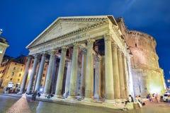 罗马,意大利- 6月01 :万神殿在罗马, 2016年6月01日的意大利 免版税库存照片