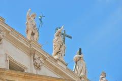 罗马,意大利- 6月01 :圣皮特圣徒・彼得的广场在梵蒂冈,罗马, 2016年6月01日的意大利 免版税库存照片