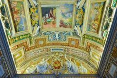 罗马,意大利- 6月01 :梵蒂冈博物馆在罗马, 2016年6月01日的意大利 库存照片
