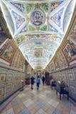 罗马,意大利- 6月01 :梵蒂冈博物馆在罗马, 2016年6月01日的意大利 免版税图库摄影