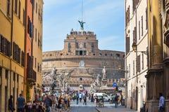罗马,意大利- 6月01 :Castel Santangelo在罗马, 2016年6月01日的意大利 免版税库存照片