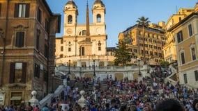 罗马,意大利- 25 05 2018 - 西班牙步在罗马-亢奋流逝录影 影视素材