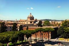 罗马,意大利- APRI 11日2016年:从natio的阳台的看法 免版税库存图片