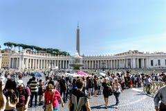 罗马,拉齐奥,意大利 2017年5月25日:圣皮特圣徒・彼得` s全景  免版税库存图片