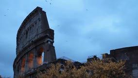 罗马,罗马斗兽场在晚上 影视素材