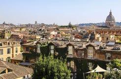 罗马,罗马,意大利看法从Pincio小山的 免版税库存照片