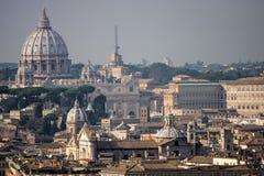 罗马,鸟瞰图全景风景 免版税库存照片