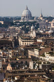 罗马,鸟瞰图全景风景 免版税库存图片