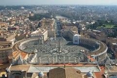 罗马,从梵蒂冈的看法 库存照片
