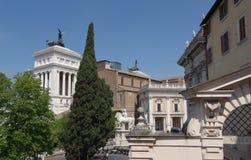 罗马, Campidoglio -雕象dei Dioscuri 免版税库存照片