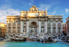 罗马, Fountain di Trevi,意大利 免版税库存照片