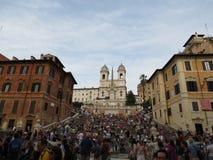 罗马, Piazza di Spagna 图库摄影