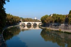 罗马, Tibur河的看法 库存照片