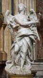 罗马-从圣・ Ignacio的天使雕象 库存图片