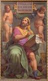 罗马-先知米迦壁画在Basilica di由彼得罗Gagliardi形式19的Sant阿戈斯蒂诺(奥古斯汀) 分 免版税库存图片