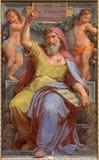 罗马-先知Ezekiel壁画在Basilica di由彼得罗Gagliardi形式19的Sant阿戈斯蒂诺(奥古斯汀) 分 免版税图库摄影