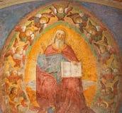 罗马-圣父壁画由Antoniazzo罗马的(1430 - 1510)在教会圣彼得罗圣安教堂里在蒙托里奥 免版税库存照片