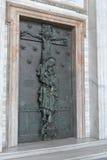 罗马 圣约翰罗马教皇的Archbasilica的圣洁门Lateran的 图库摄影