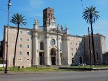 罗马-圣洁十字架大教堂在耶路撒冷 免版税图库摄影