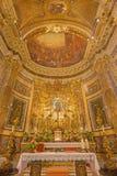 罗马-在教会基耶萨二圣玛丽亚della Vittoria的长老会的管辖区 免版税库存照片