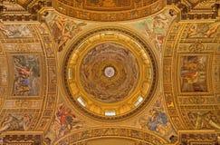 罗马-在教会Basilica di Sant安德里亚della瓦尔圆屋顶的壁画  免版税库存图片