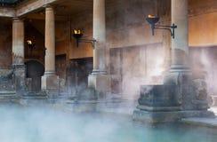 罗马浴在巴恩,英国 库存照片
