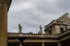 罗马浴在巴恩,萨默塞特,英国 免版税库存照片