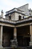 罗马浴在巴恩,萨默塞特,英国 免版税图库摄影