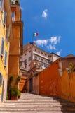 罗马 在Quirinale宫殿的意大利旗子 免版税库存照片