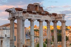 罗马 城市论坛 库存照片