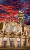 罗马-大教堂黄昏的圣玛丽亚Maggiore 免版税库存照片
