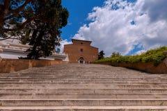 罗马 天堂楼梯 免版税图库摄影