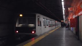 罗马-对圣乔凡尼驻地的地铁 股票录像