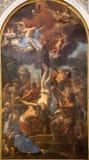 罗马-彼得curcifixion -从圣诞老人3月的油漆 免版税库存照片