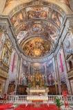 罗马-教会圣斯皮里托圣所在有壁画的Sassia从16的Scipione Pulzone 分 免版税库存图片