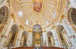 罗马-教会基耶萨della Santissima Trinita degli Spanoli 免版税库存照片