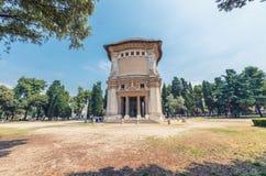 罗马- 2014年6月14日:游人参观别墅Borghese 城市在 库存照片