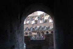罗马12月26日2014年,意大利-罗马斗兽场 免版税库存图片