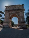 罗马-泰特斯胜利曲拱 免版税库存图片