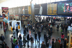 罗马终点火车站 库存图片