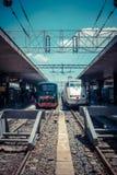 罗马终点火车站 免版税库存图片