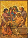 罗马-耶稣油漆埋葬在我们的夫人Of The Spasm亚美尼亚教会里  库存照片