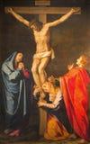 罗马-阁下绘画的在十字架上钉死在教会基耶萨Nuova里Scipione Pulzone (1550 - 1598) 免版税库存图片
