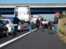 罗马-高速公路漫步 免版税库存照片