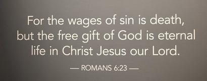 罗马6:23 免版税库存照片
