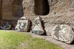罗马- Caracalla thermae 免版税库存照片