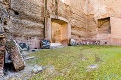 罗马- Caracalla thermae 图库摄影