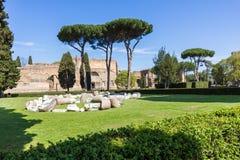罗马- Caracalla thermae 库存图片