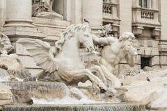 罗马- Fontana di Trevi 免版税库存照片